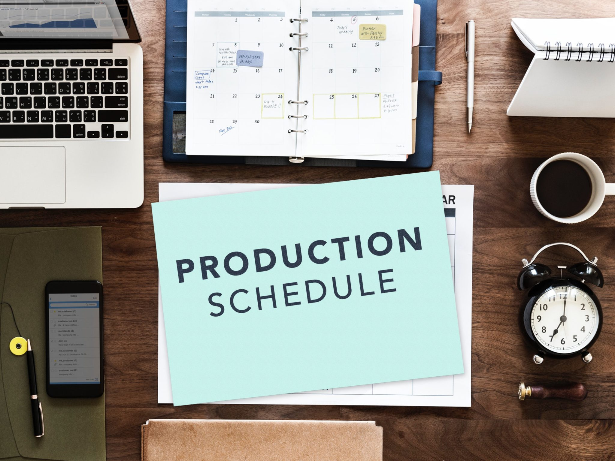 event production schedule